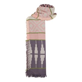 Denka Brushed Patterned Jacquard Scarf Dewberry