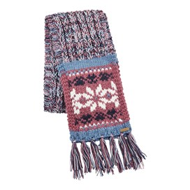 Callie Fair Isle Patterned Scarf Malaga