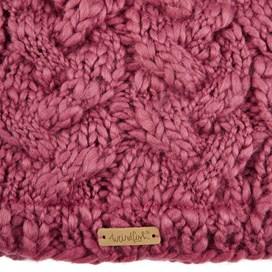Aysha Plain Cable Knit Beanie Malaga