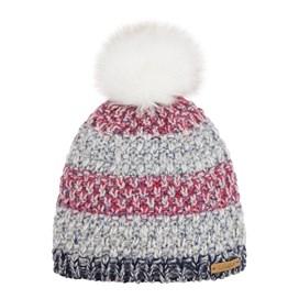 Joanna Striped Bobble Hat Malaga