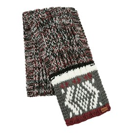 Ridson Fair Isle Patterned Scarf Cement