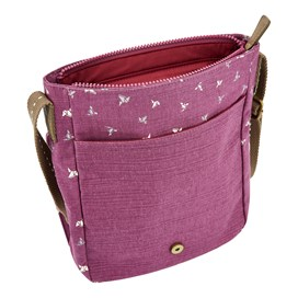 Hallie Patterned Cross Body Bag Purple Potion