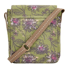 Hallie Patterned Cross Body Bag Pear
