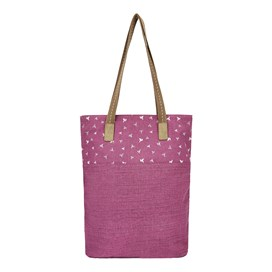 Sina Printed Shopper Bag Purple Potion