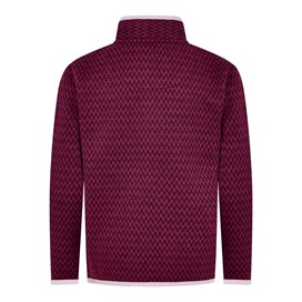 Warble Full Zip Textured Fleece Purple Potion