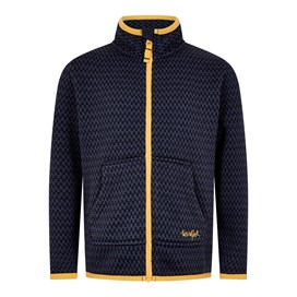 Warble Full Zip Textured Fleece Dark Navy