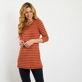 Hayley Striped Reversible Tunic Mango