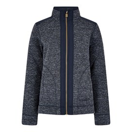 Bunty Zipped Honeycomb Soft Knit Jacket Dark Navy