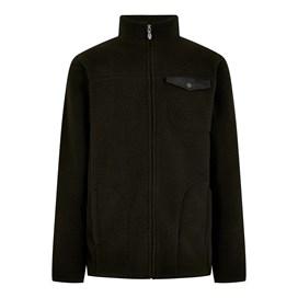 Ellroy Full Zip Fleece Jacket Washed Black