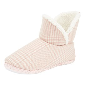 Vesta Checkered Slipper Boot Pink