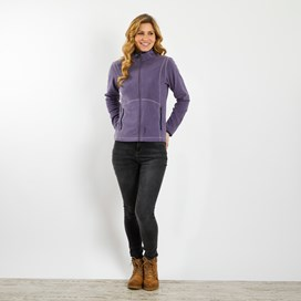 Christa Plain Fleece Jacket Dewberry