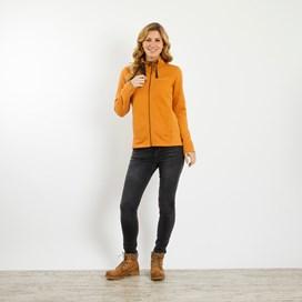 Marley Full Zip Print Trim Sweatshirt Saffron