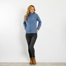 Holly Full Zip Classic Macaroni Jacket Light Blue