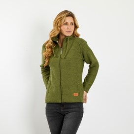 Holly Full Zip Classic Macaroni Jacket Pear