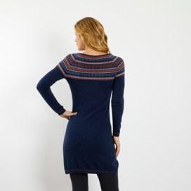 Sebah Fair Isle Knitted Dress Dark Navy