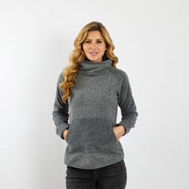 Salica Pop Over Diamond Fleece Grey Marl
