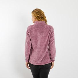 Maiya 1/4 Zip Plush Fleece Sweatshirt Malaga