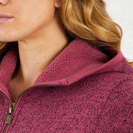 Adina Hooded Sherpa Lined Fleece Malaga