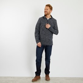 Galvin 1/4 Zip Active Macaroni Sweatshirt Dark Navy