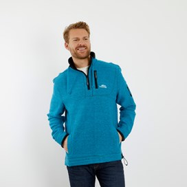 Parkway 1/4 Zip Tech Macaroni Sweatshirt Blue Jay