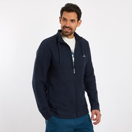 Ash Full Zip Classic Macaroni Jacket Dark Navy
