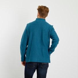 Ash Full Zip Classic Macaroni Jacket Deep Sea Blue