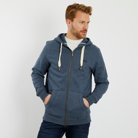Bruno Branded Full Zip Hoodie Navy Marl