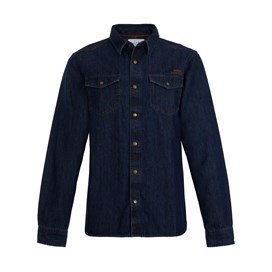 Milos Vintage Western Denim Shirt Denim