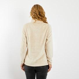 Maiya 1/4 Zip Plush Fleece Sweatshirt Chalk