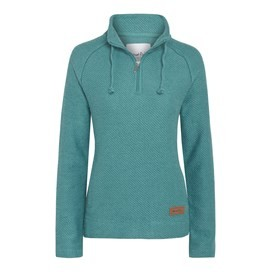 Fairview 1/4 Zip Light Macaroni Sweatshirt Sea Green