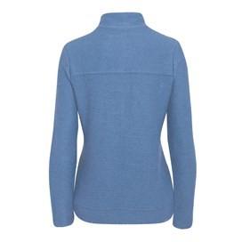 Ullen Full Zip Light Macaroni Sweatshirt Dusty Blue