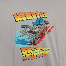 Bass To The Future Artist T-Shirt Pale Silver