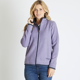 Ariana Grid Fleece Jacket Dewberry