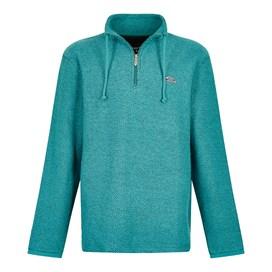 Cruiser 1/4 Zip Classic Macaroni Sweatshirt Deep Teal