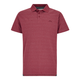 Rydal Striped Jacquard Polo Shirt Berry
