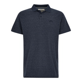 Rydal Striped Jacquard Polo Shirt Navy
