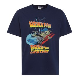 Bass To The Future Artist T-Shirt Black Iris