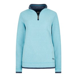 Beyonce Grid Fleece Sweatshirt Cyan