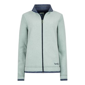 Ariana Grid Fleece Jacket Silver Sage