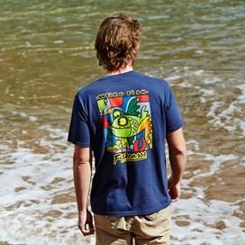 Fishcasso Back Print Artist T-Shirt Deep Amber