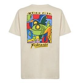 Fishcasso Back Print Artist T-Shirt Oyster