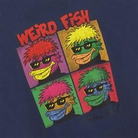 Anchovy Warhol Back Print Artist T-Shirt Dark Navy