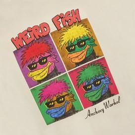 Anchovy Warhol Back Print Artist T-Shirt Oyster