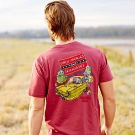 Moules & Seahorses Back Print Artist T-Shirt Soft Port