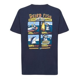 Four Step Guide Back Print Artist T-Shirt Dark Navy