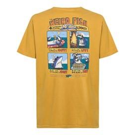 Four Step Guide Back Print Artist T-Shirt Deep Amber