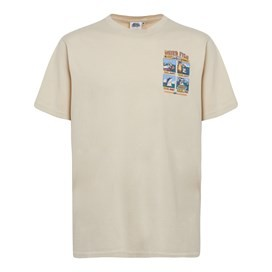 Four Step Guide Back Print Artist T-Shirt Oyster