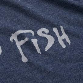 Carp Side Front Print Artist T-Shirt Blue Mirage