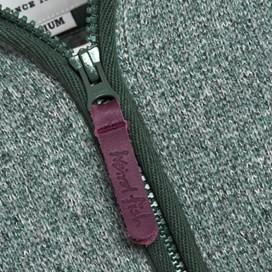 Busk Full Zip Hoody Tech Soft Knit Sea Green