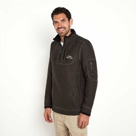 Parkway 1/4 Zip Deluxe Tech Macaroni Sweatshirt Licorice